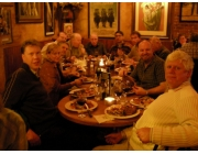 The conference dinner at a Steak House