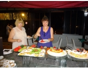 Liz and Kathy at dessert